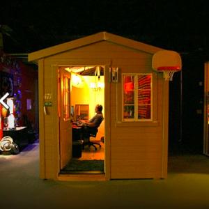 Arbeiten im muckeligen Häuschen. Quelle: pixar.com